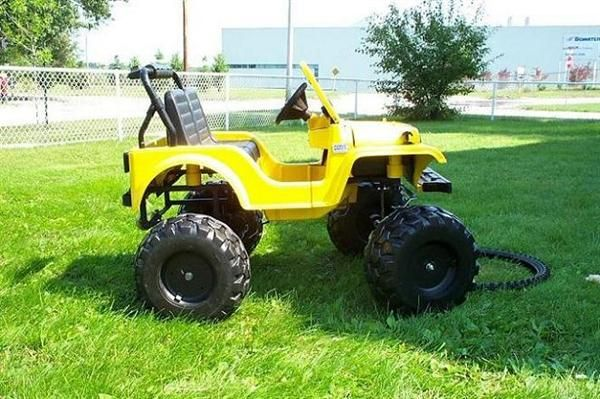 Modified Power Wheels - Jeep Size...not sure who would like this more...the kids or the husband?