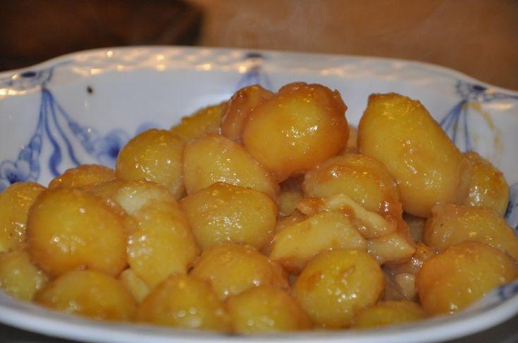 dejlige små brune kartofler, Danmark,Jul, Hovedret, Anderledes, opskrift
