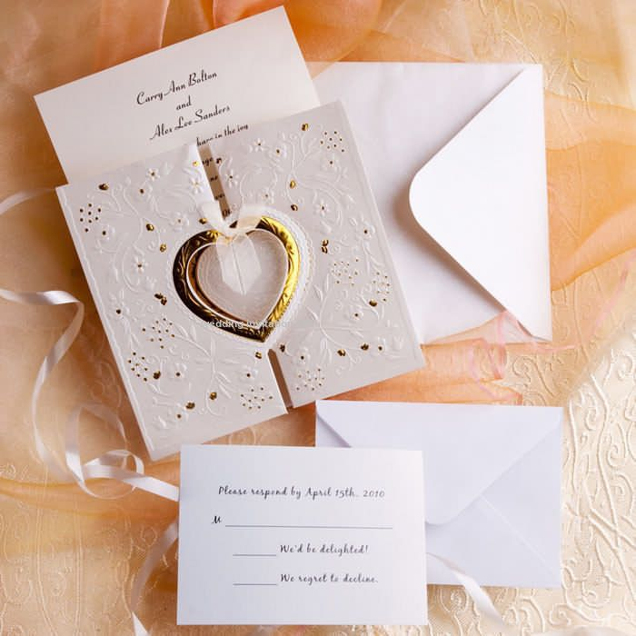 box wedding invitations online%0A Wedding Invitations Online Romantic Gold And White Heart Folded Wedding  Invitations