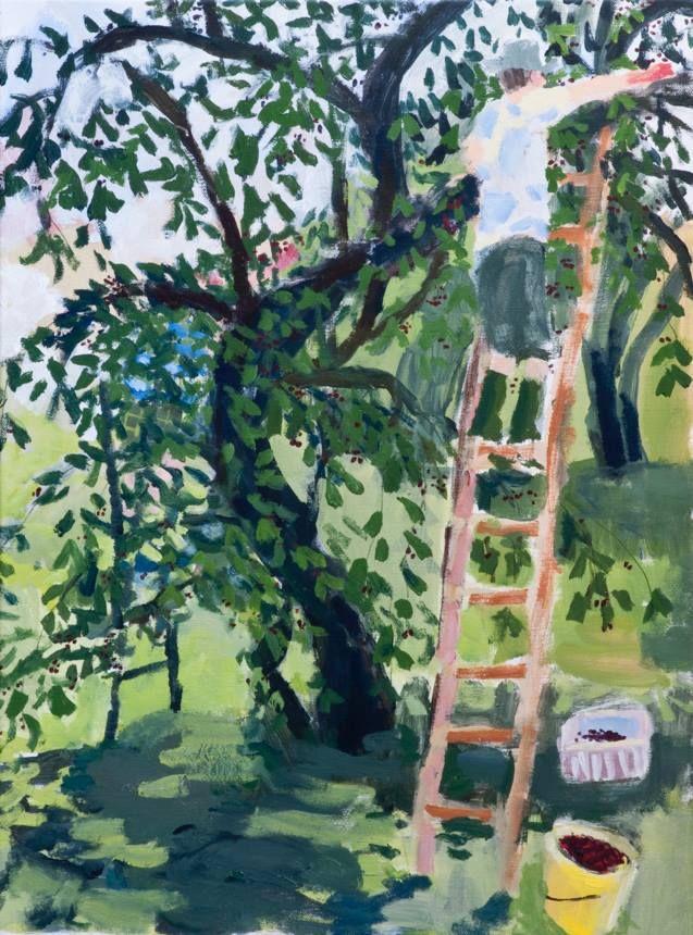 'Cherry Picking' by Brita Granström (acrylic on canvas)