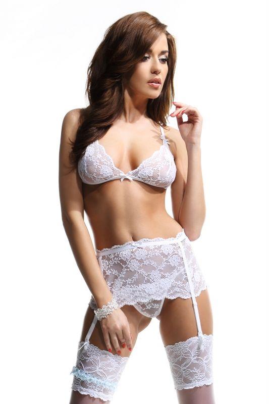 Sexy #Dessous-Set in weiß für den #Hochzeitsnacht