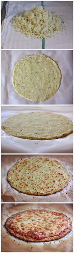 De beste Pizzabodem maak je zelf! Lekker en gezond... van #bloemkool! Tipperdeflip