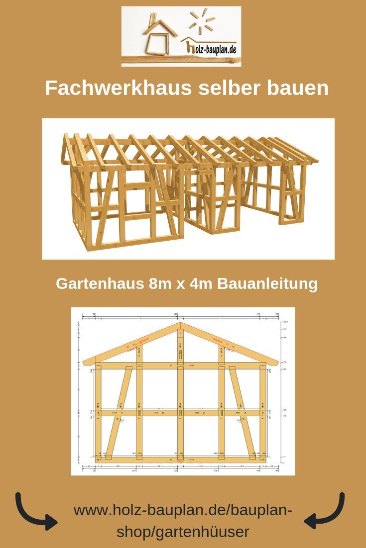 Holzhaus selber bauen Bauplan Gartenhaus bauen