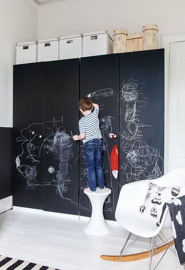 re:pin BKLYN contessa :: ikea chalkboard painted wardrobe system :: by Ollie and Sebs Haus: