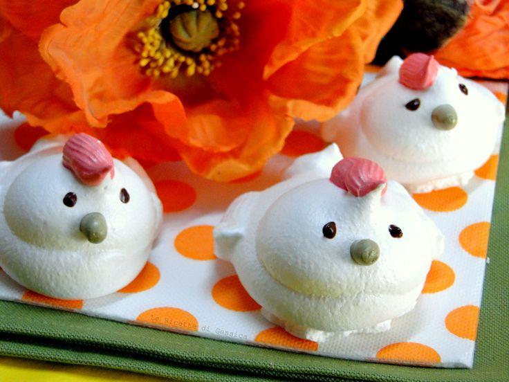 Galline o Pulcini di Meringa - Ricetta dolce di Pasqua