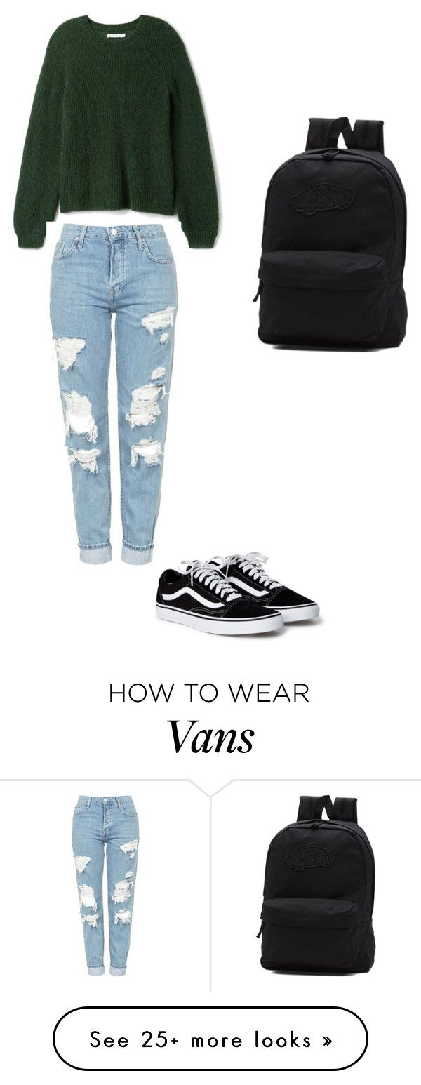 """Vans look"" by catyras on Polyvore featuring Vans and Topshop"