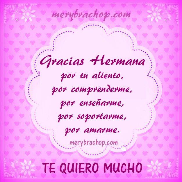 Frases Hermana Agradecimiento Amiga Friendship Sisters My