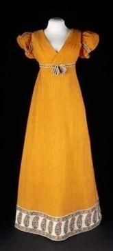 Regency dress 1810-1820