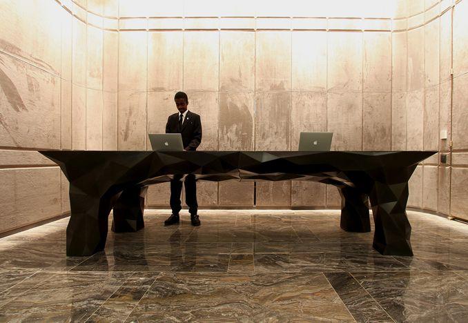 concierge desk for neca park hyatt new york reception desk design by situ studio situ studio pinterest - Concierge Desk Design