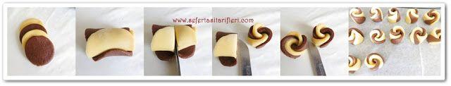PERVANE (GUL) KURABIYE TARIFI  malzemeler: 125 gr oda sıcaklığında tereyağı/margarin 1 yemek kaşığı sıvıyağ 1 yemek kaşığı yoğurt 1 adet yumurta 1 su bardağı pudra şekeri(200 ml) 1 paket vanilya 1 paket kabartma tozu 1,5 yemek kaşığı kakao Aldığı kadar un(gevrek isterseniz bir miktarını nişasta koyabilirsiniz) PERVANE (GÜL) KURABİYE nasıl yapılır? Tüm sıvı malzemeleri iyice elimizle birbirine yedirelim Un ile kabartma tozu, vanilya ve bir fiske tuzu eleyerek yavaş yavaş karıştıralım Kurabiye…