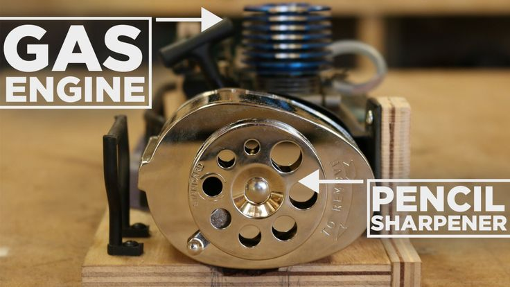 An Inventor Powers a Pencil Sharpener With a Remote Control Car Nitro Engine
