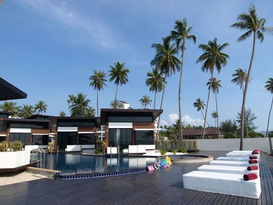 Poolside seating at Aava Resort and Spa, Koh Samui, Thailand