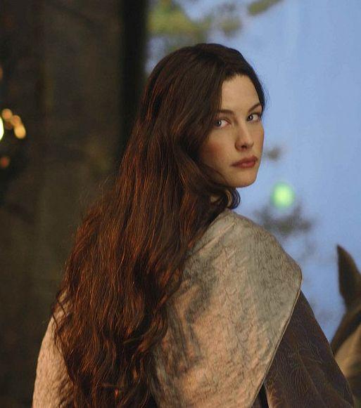 "Liv Tyler as Arwen Undomiel (Evenstar) of Rivendell. Immortal, half-elven. Arwen means ""noble maiden"""