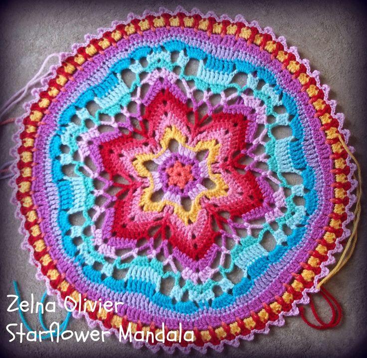 Starflower Mandala:   Pattern http://zootyowlcards.blogspot.nl/2014/04/starflower-mandala-pattern.html