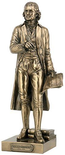 "10.5"" Statue President Thomas Jefferson Figurine Founding Father Sculpture"