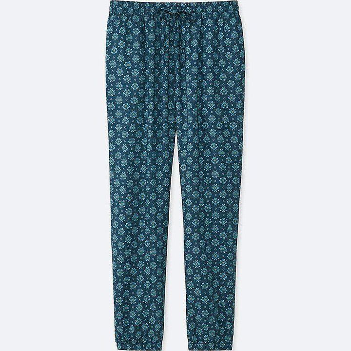 Uniqlo Women's Drape Floral-print Pants