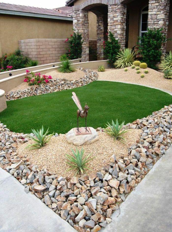 1001 Ideas Encantadores De Diseno De Patios Decorados Jardines Jardin Con Piedras Diseno De Jardin