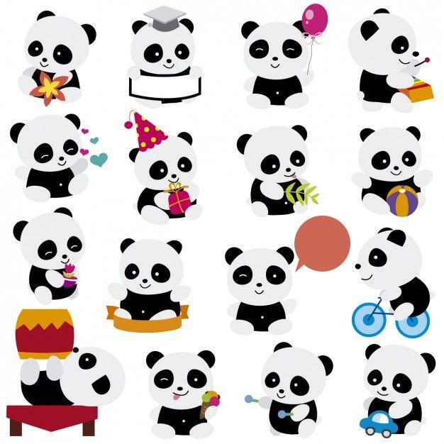 Jogando desenhos animados pandas