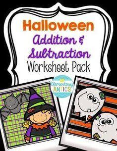 Halloween Addition & Subtraction WS Pack Freebie