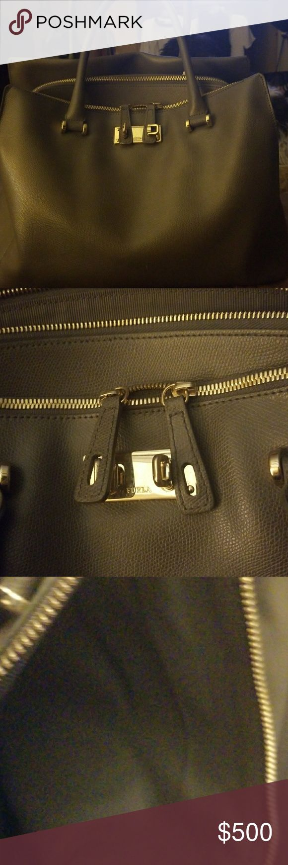BRAND NEW Furla purse Gorgeous grey Furla pure with tons of space.   Carried twice.   EXCELLENT CONDITION.  AUTHENTIC Furla Bags Shoulder Bags