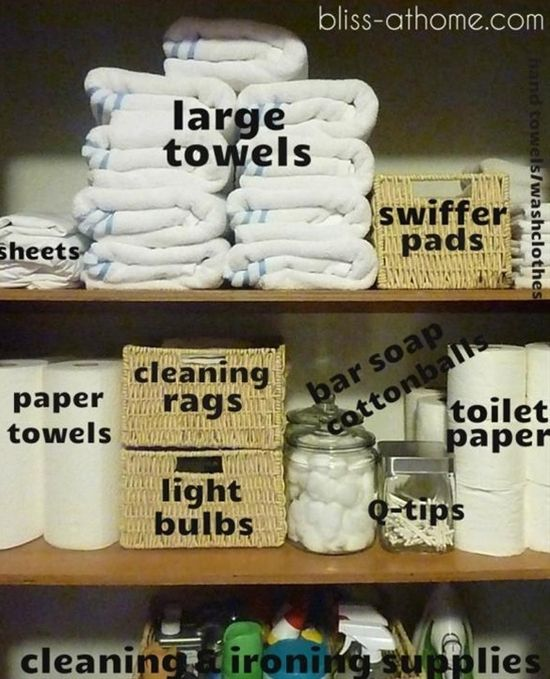 Linnen closet organization - Click image to find more diy & crafts Pinterest pins