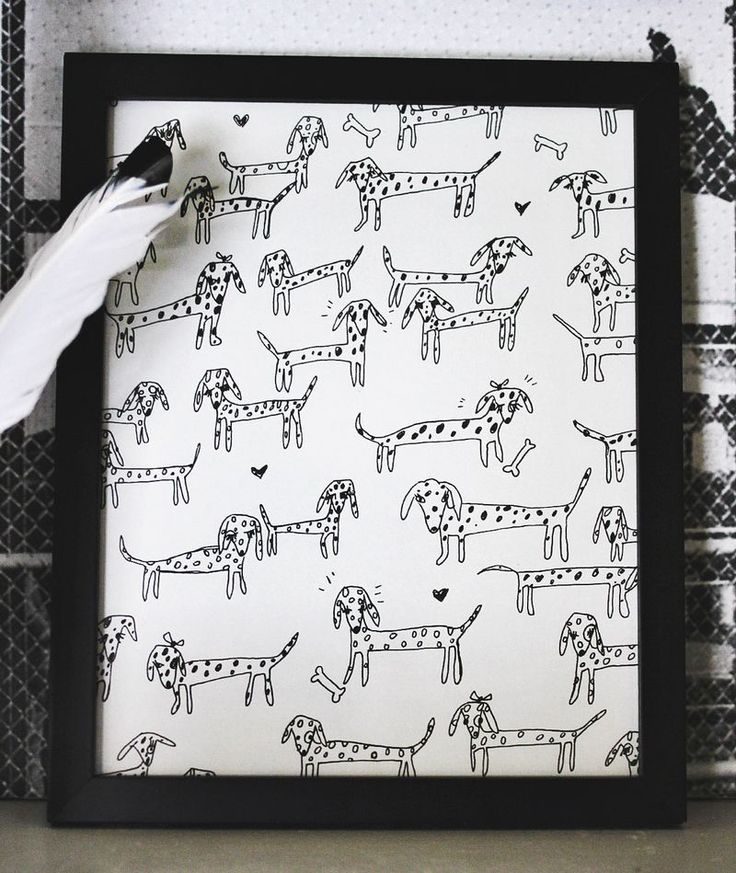 DIY Personalized Pet Art (framing kids' drawings in their rooms, or a younger sibling's nursery!)