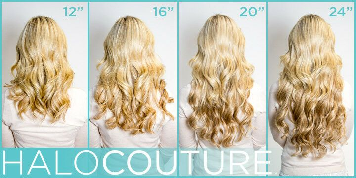 Halo Couture Hair Extensions 16 Inches Ponytail Remy Human Hair