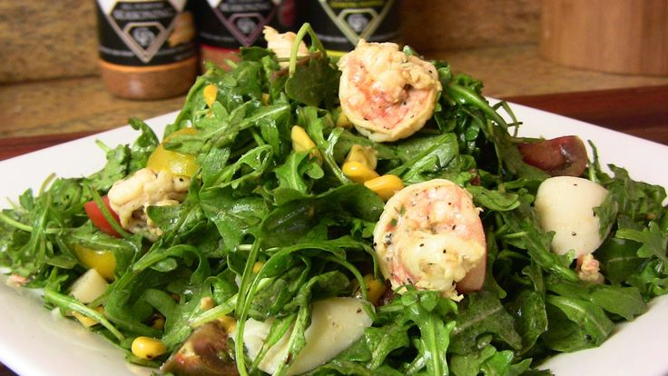 Shrimp & Arugula Salad w/ Fresh Lemon Vinaigrette |Cooking With ...