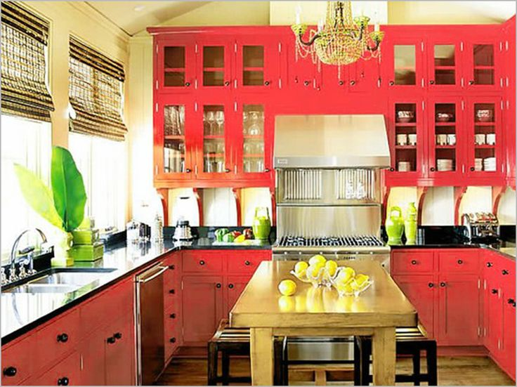 Cuisine Rose Good Alternative To White Cabinets That Are All The Rage These Days Not Sure I D Do Rose But Love Love Love Color