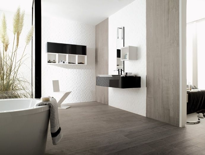 Gele Randen Badkamer ~ Wood porcelain tiles for floors and walls Canada White Wash tile
