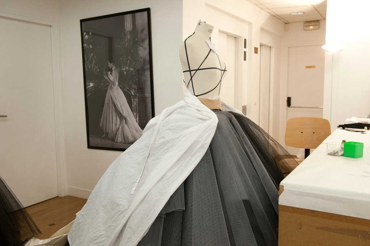Christian Dior Haute Couture in the making.