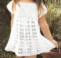 Sa invatam sa crosetam si sa tricotam: rochita de fetita crosetata