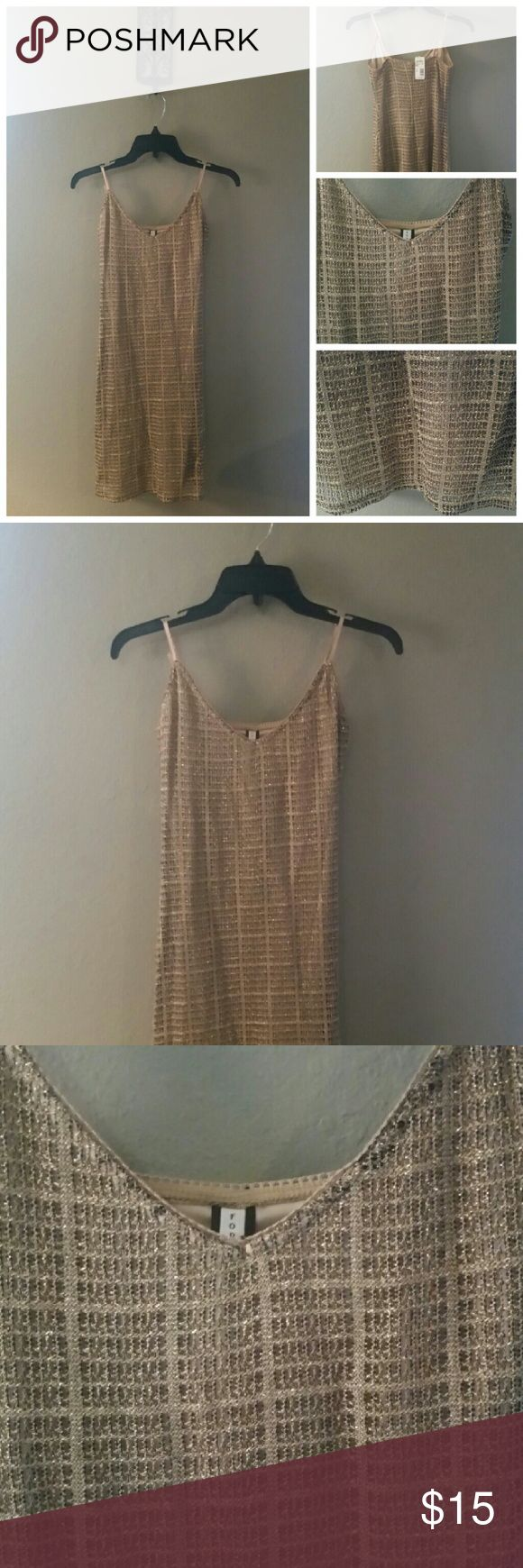 NWT FOREVER 21 GOLD MINI DRESS FOREVER 21 GOLD MINI DRESS SIZE SMALL, LENGTH 31 IN, COLOR GOLD Forever 21 Dresses Mini