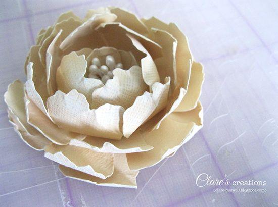 103 best paper flowers diy images on pinterest paper flowers diy paper flower tutorial large rose with stamen mightylinksfo