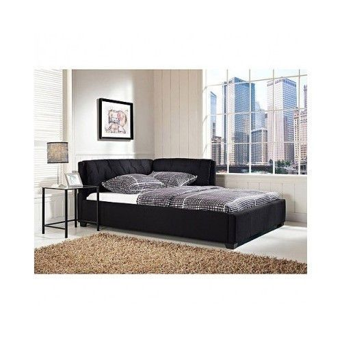 full size daybed tufted lounge reversible bed modern black bedroom furniture fun - Full Size Daybeds