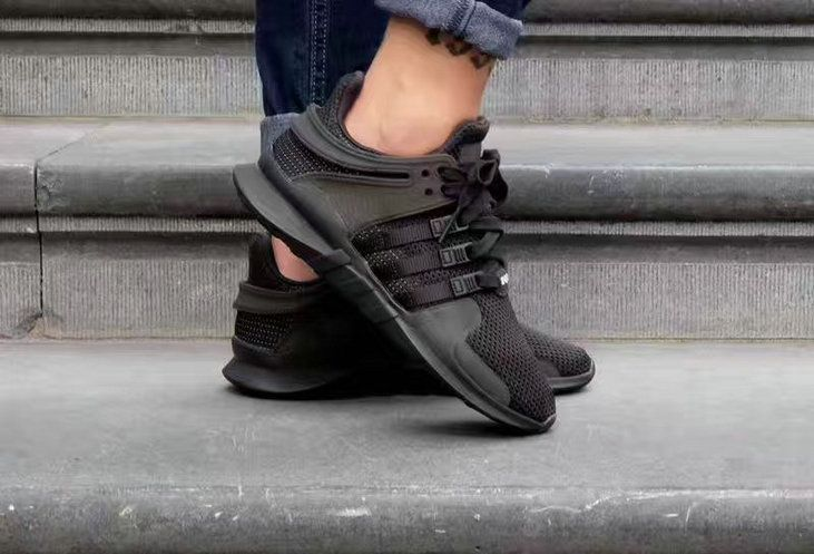 Discount 2017 UK Trainers adidas EQT Support ADV Primeknit 93 Triple Black All Black Size 40-45 For Cheap