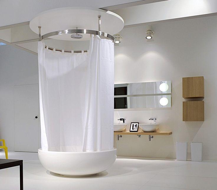 Die besten 25+ Runde badewanne Ideen auf Pinterest | Wc brille ... | {Badewanne mit duschzone eckig 44}