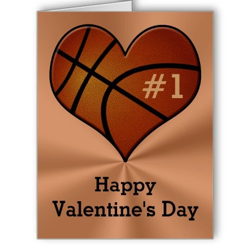 Customizable Basketball Valentineu0027s Day Cards