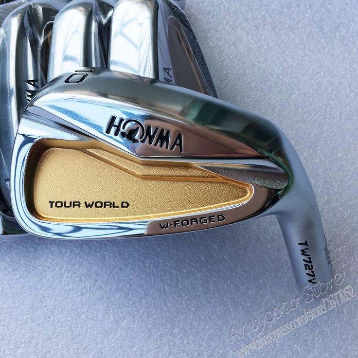 New Mens Golf irons head HONMA TW727V 24k gold Golf head set 4-10 Irons Club head no shaft Free shipping