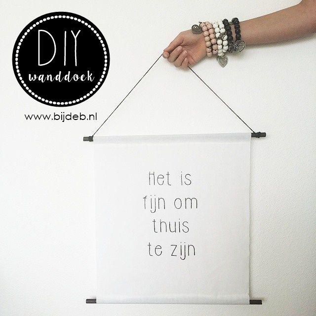 DIY wanddoek maken