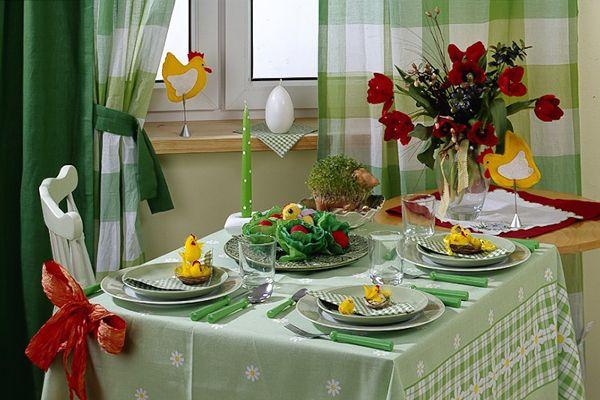 Как украсить пасхальный стол - идеи