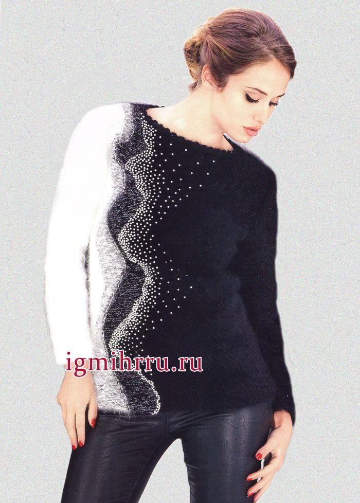 Два нарядных пуловера спицами