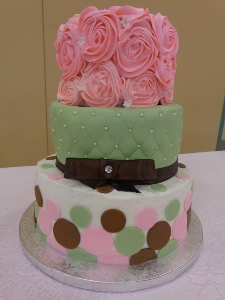 An elegant baby shower cake cute cake ideas pinterest - Elegant baby shower ...