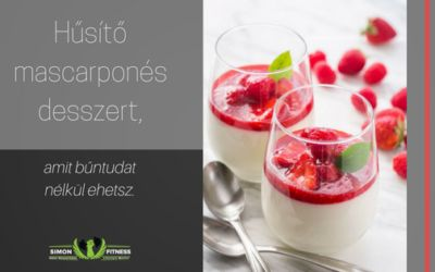 Hűsítő mascarponés desszert, amit bűntudat nélkül ehetsz