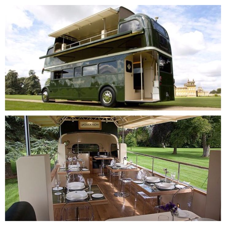 Double decker dining bus / The Rosebery #foodtruck