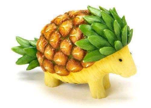 Armadillo Pineapple Fruit Art http://haveheartdaily.com