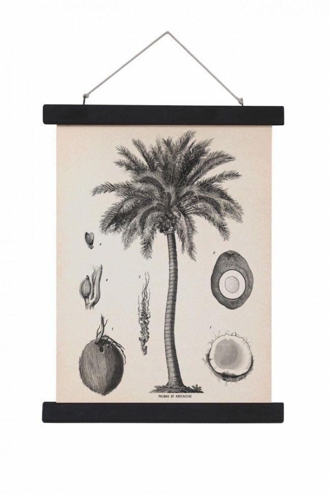 wandbehang 30x40 mit palmen druck aus stoff