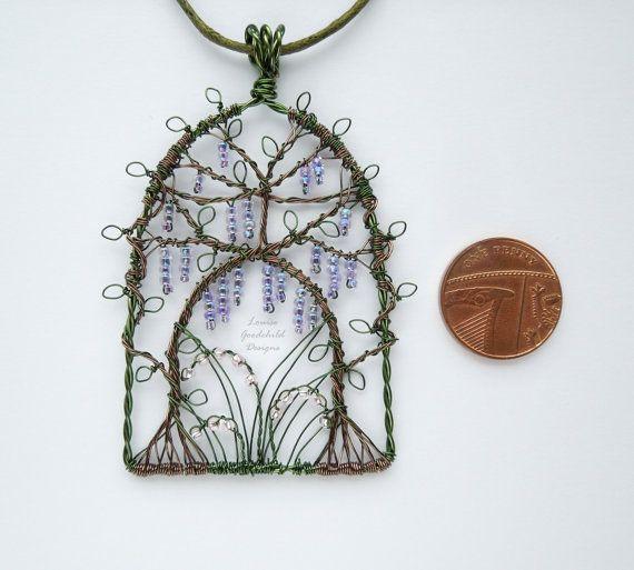 Wisteria Arch pendant wisteria necklace wire by LouiseGoodchild