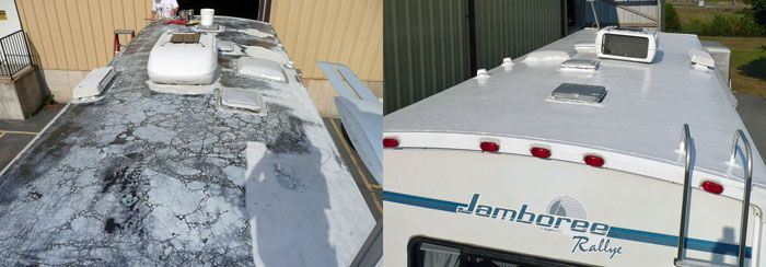 Leaky motorhome roof? Repair it yourself with EPDM Liquid Rubber | Motorhome Roof Repair