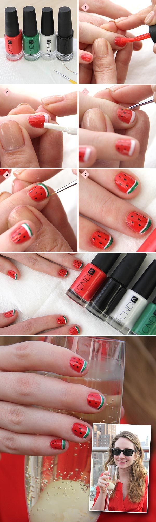 Watermelon mani, anyone? Find out how to get the look!